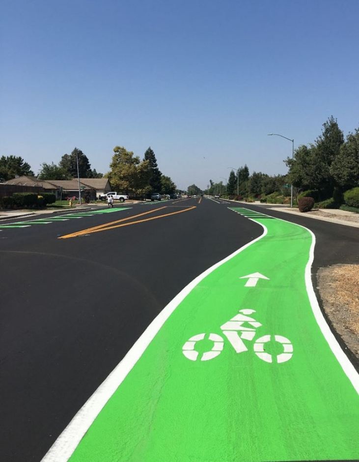 A new bike lane in Galt