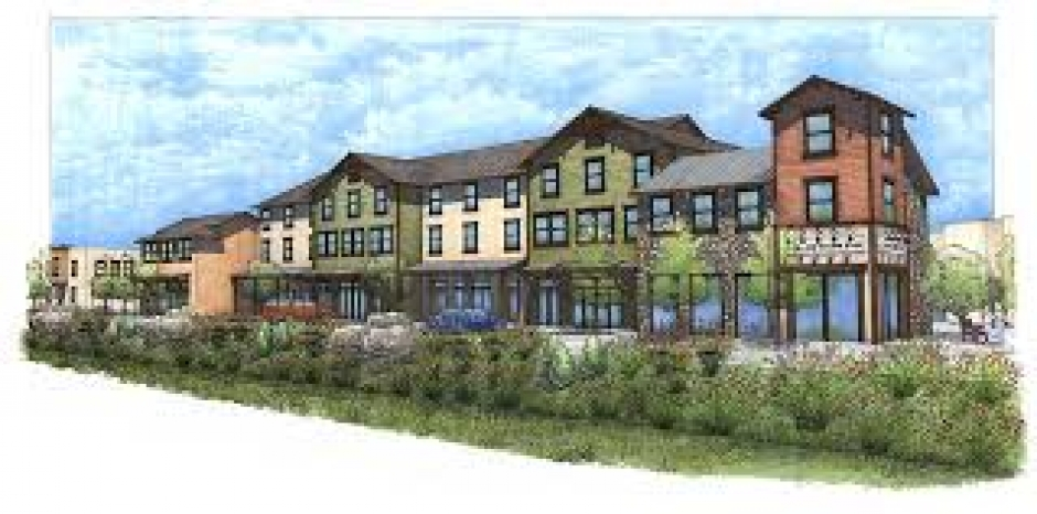 An illustration of some of the units to be built at The Village at Loomis.