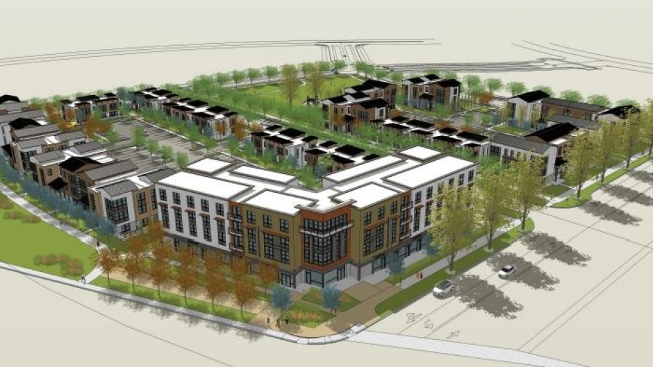 A rendering of the redeveloped Twin Rivers public housing site.